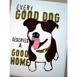 Pit Bull Good Dog Note Cards